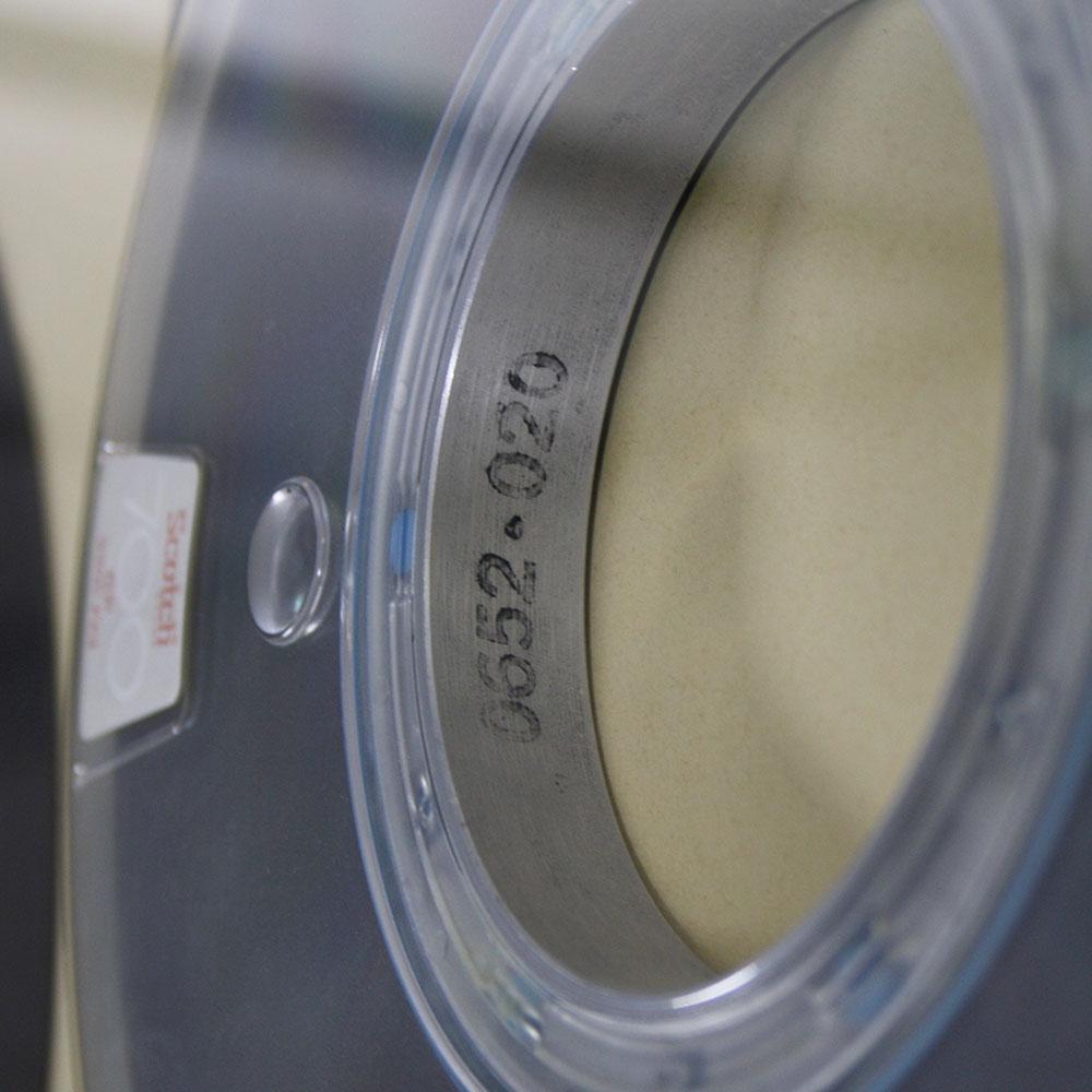 Aufschrift '0652-020' auf einem Magnetband der gwdg